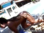 Ghetto Big Afro Black Butt Hottie Pounding
