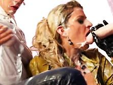 Strapon Lesbian Ridden By Bukkake Gloryhole