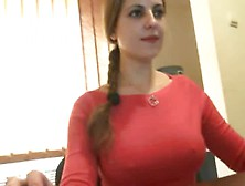 Young Office Babe With Big Tits Nearly Gets Caught