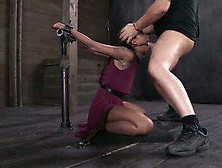 Interracial Bondage With Big Black Cock