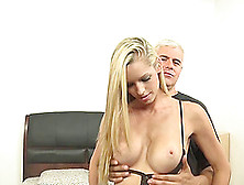 He Goes So Deep In This Blonde's Pussy She Screams With Passion