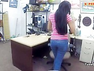 Cute Girl Posed Naked N Fucked At The Pawnshop For Cash