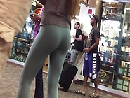 Tight Body Round Ass College College Girl In Yoga Spandex Pants