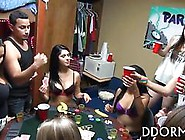 Poker Playing College Teens Lose And Strip Slowly