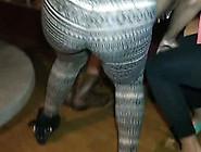 Sensual Ebony Chick Wearing Legging Twerks At A Party
