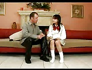 Japanese Schoolgirl In Threesome Interracial -Unsencored-