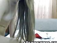Teenie In Blue Sexy Panties Teasing On Webcam