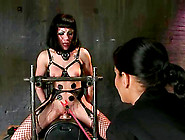 Asphyxia Noir Gets Her Pussy Tortured With Claws And Electric Di