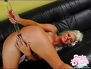 Blonde Kathy Anderson Toy Fucks Her Holes