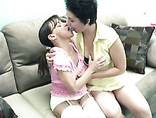 Cute Short Haired Whore And Ugly Milf Having Lesbian Sex On The