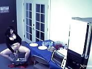 Break Room Masturbation With Celery In Her Cunt
