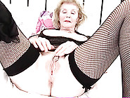 Granny Displays Her Huge Clit Ring Proudly