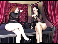 Two Mistress Pantyhose Facesitting