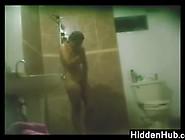 Hidden Bathroom Camera Watches Her
