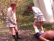 Sexy Skinny School Girl Mistress Pooping On A Male Slave