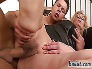 Mature Blonde Woman Is Having Casual Sex With A Younger Guy And