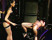 Strict Lesbian Fetish Spanking Mistress Goes Wild