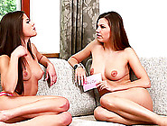 Brunette Babes Caprice And Eufrat Show Their Tits To Each Other