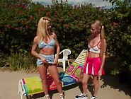 Lesbian Athletic Pussy Teen Toy Action