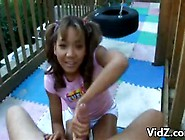Dumb Little Girl Sucking Daddy's Big Cock