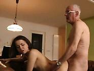 Lucky Grandpa Fucks Teenie And Cums On Her Face