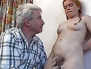 Blonde Teen Shows Off Her Hairy Twat To Her Horny Dad