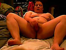 Cute Mature White Bbw Wife Masturbates With A Dildo