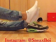 German Foot Master In Nike Air Max With Sneaker Socks