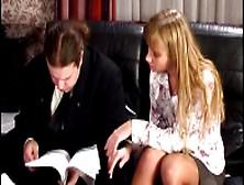 Blonde Hottie In Nylon Stockings Yulia Tikhomirova In Epic Foot