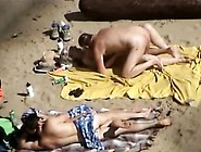Public Beach Is Good For Group Sex