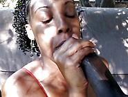 Delicious Ebony Ghetto Fuck Under The Trees