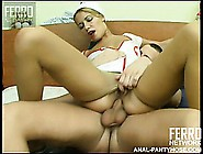 Dominant Blonde Nurse Gets Her Ass Fucked During A Cfnm Video