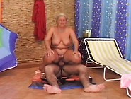 Slutty Mature Lady Licks A Young Man's Butt And Fucks His Hard P