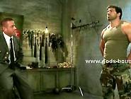 Strong Brunette Gay Soldier Punished By Boss In Bondage Brutal G