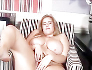Chubby Hairy Blonde Strips And Plays