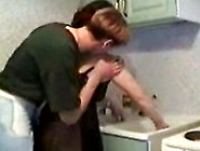 Son Loves To Fuck His Mom In The Kitchen