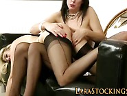 Stockings Milf Lesbos Ass Toyed