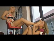 Gorgeous Blonde Teen Getting Her Delectable Toes Licked