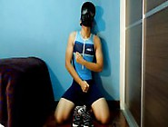 Lycra Trisuit And Gas Mask Wank