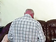 Bald,  Elderly Guy Is About To Fuck A Petite,  German Teen In His