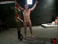 Gimp Gets Strap-On Punishment