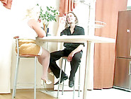 Blond Big Beautiful Woman-Granny With Youthful Boy