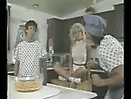 Amber Lynn Kitchen Threesome