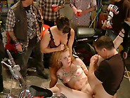 Pounded In A Biker Bar- First Ever Boygirl Scene!