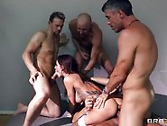 Four Dicks To Gangbang The Maid
