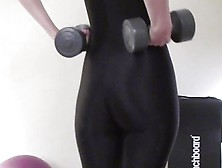 Hot Body In Tight Spandex Suit