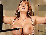 Tickling A Big Titty Babe In Bondage Makes Her Giggle