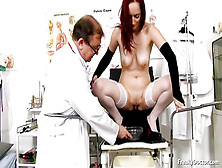 Kinky Doctor Rubs With Dildo A Pretty Little Clitoris Of My Sexy