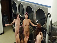 Girls And Guys Are Making A Really Kinky Party In The Laundry Ro