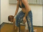 Chubby Mistress Gives Her Ponygirl A Hard Time